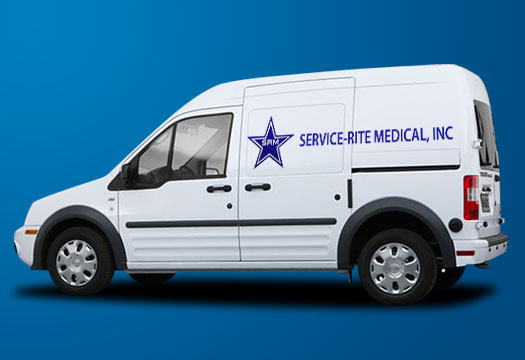 Medical equipment service van - Service-Rite Medical, Inc.
